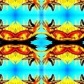 Butterflies on Sunflowers