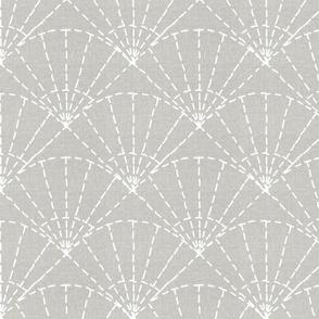 linen textured sashiko