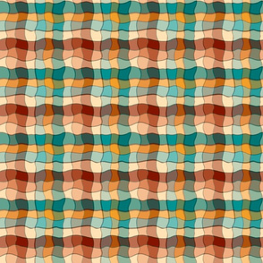 Wiggly cut out plaid, checked, gingham