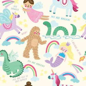 Mythical Creatures with Text
