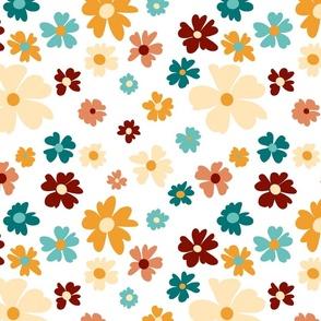 Groovy Floral- Medium Scale