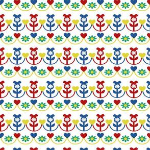 Pretty in a Row Horizontal Flowers