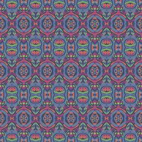 Blue, Magenta Abstract Geometric