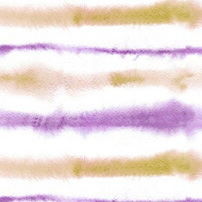 Mustard and lilac watercolor stripes - painted tie diy texture a265-3