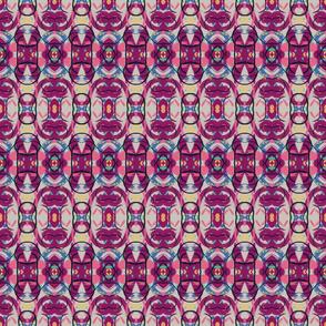 Burgundy, Pink, Abstract Geometric