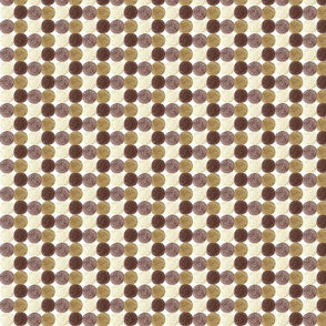 Meadow Dots in Brown
