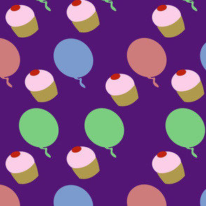 cakes and balloons