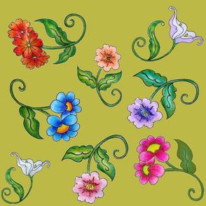 Fairy Flowers On Chartruese