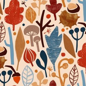 Papercut herbarium - large scale
