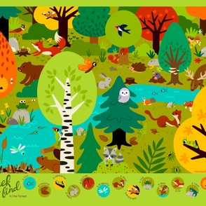 Seek and find in the forest - Playmat