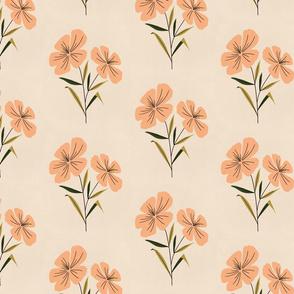 Gouache Florals - Peach and Cream