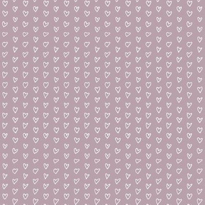 Hand Drawn Hearts - Lilac - Mini