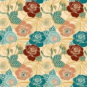 Medium Scale - Fading Sun Collection - Rose Garden