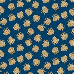 cabbage rose blue 2059-53