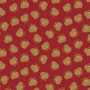 cabbage rose red 2059-34