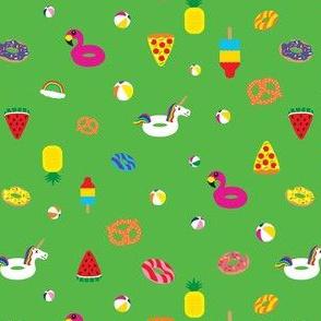 Floaties on Green