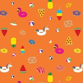 Floaties on Orange