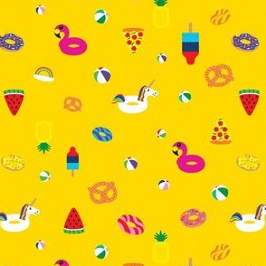 Floaties on Yellow