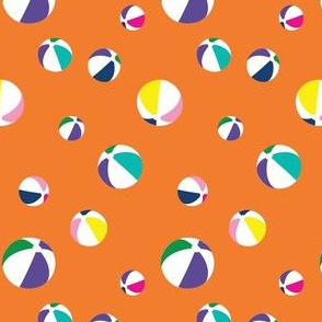 Orange Beach Ball Floaties