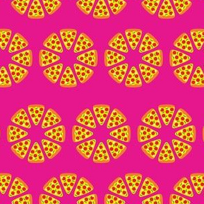 Pizza on Hot Pink