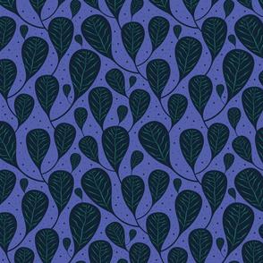 Tropical Blue Leaves