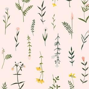 Wildflowers - Large Pink Floral Print