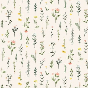 Wildflowers - Small Cream Floral Print