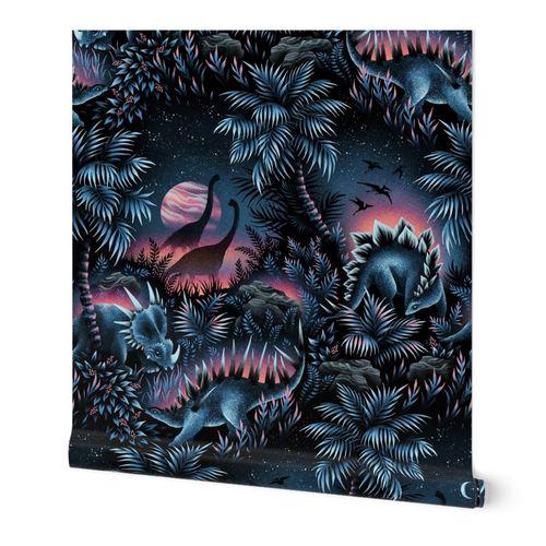 Dinosaur Lagoon - Blue Pink