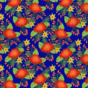 Summer Night-Red Floral