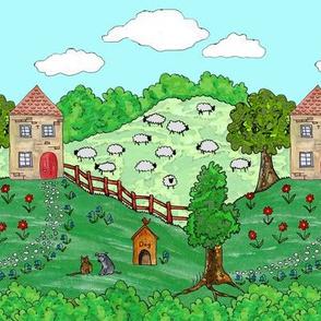 Farm border print