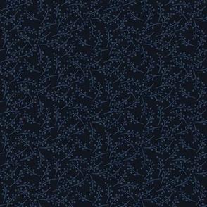 Berry Branch {dark navy blue}