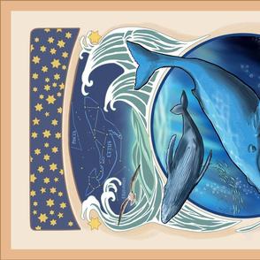 Humpback Whale Tea Towel