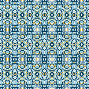 Blue and Green Composition Geometric