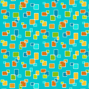 Real Gone Square Citrus Turquoise