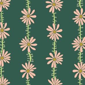 Flower Vines Green