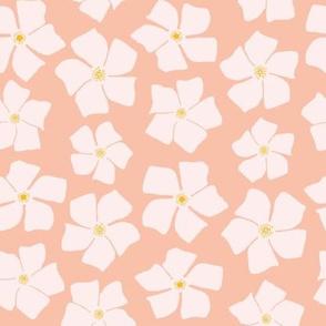 Coral Floral Pinwheels