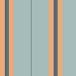 Midnight Apricot Stripe Light