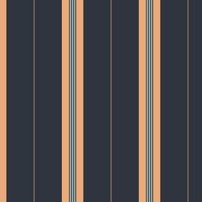 Midnight Apricot Stripe Dark