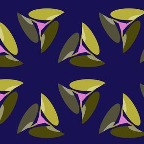 Fan Leaves On Opulent Purple