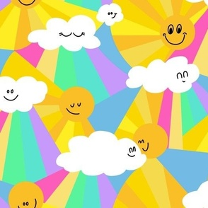 Happy Clouds, Rainbows and sunny weather
