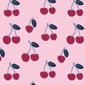 Medium Cherries in dark pink blue cute cherry fruits