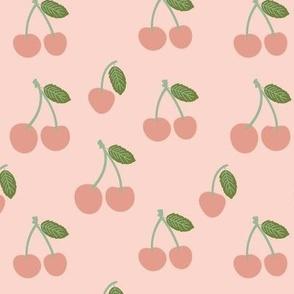 Medium Cherries in Dusty Pink cute cherry fruits
