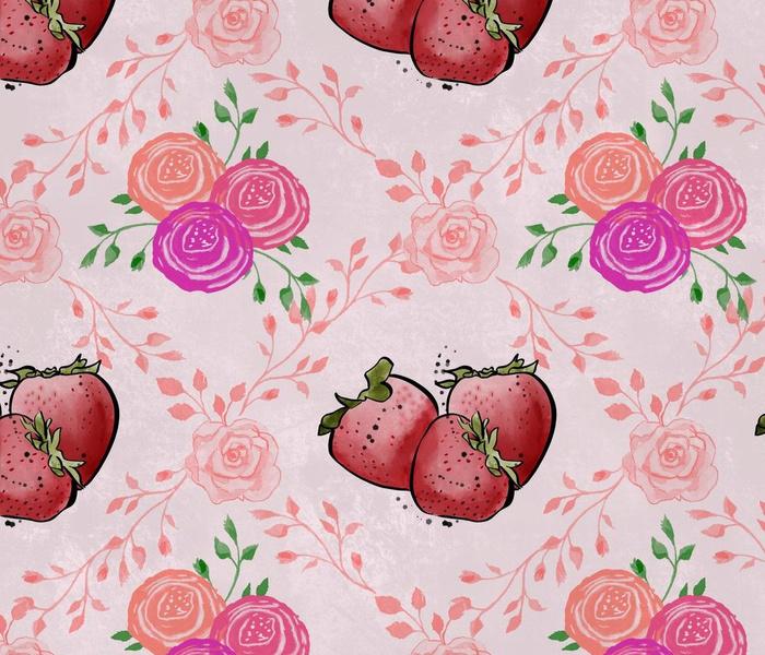Strawberry & Roses