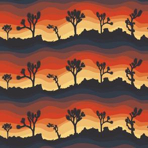 Joshua Tree at Sunset Dark