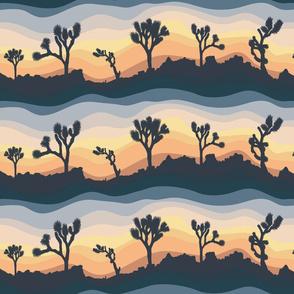 Joshua Tree at Sunset Light