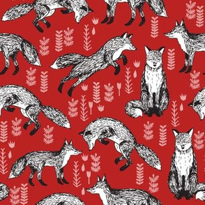 woodland fox fabric - red fox fabric