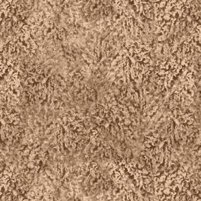 Sandy tan poodle curl fur texture