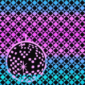 Neon Disco Balls - pink and blue