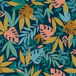 Tropical leaves - dark