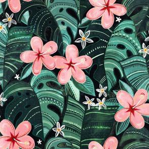 Midnight Tropical Garden